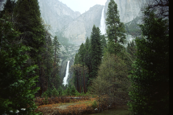 Upper and lower Yosemite Falls, Yosemite Park - fine art photograph