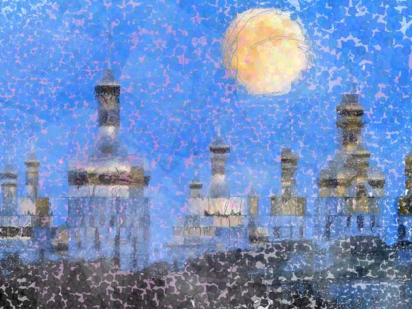 Kiev Ukraine Skyline Poster Art Print by Peter McClard at VectorArtLabs.com
