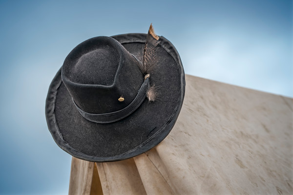 Civil War Reenactors Officers Hat Macro|Wall Decor fleblanc