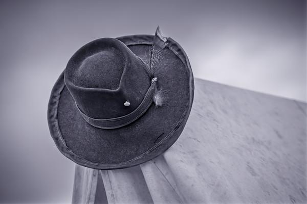 Civil War Soldiers Hat Black+White Realistic Historic fleblanc