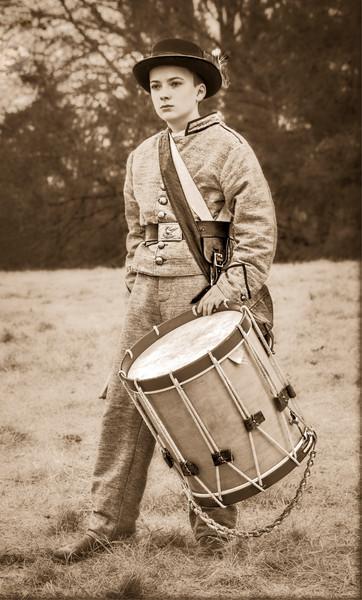 Civil War Drummer Boy Soldier Vintage  Realistic Historic fleblanc