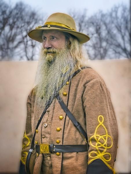 Civil War Officer Portrait Full Color|Wall Decor fleblanc