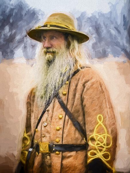 Civil War Officer Portrait Painting|Wall Decor fleblanc