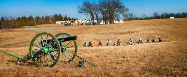 Civil War Canon Ready Field Pano|Wall Decor fleblanc