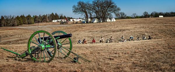 Civil War Canon Ready Battle Pano|Wall Decor fleblanc