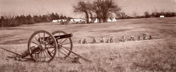Civil War Canon Ready Vintage Sepia Realistic Historic fleblanc