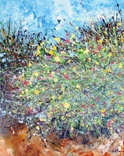 Abstract Arizona Wildflowers Art l En Chuen Soo