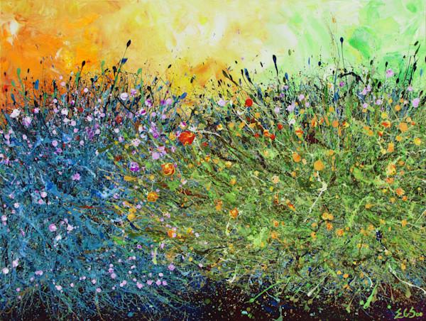 EnChuen Soo l Desert Wildflowers #17 l Metal Print