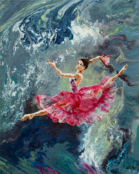 Beautiful Abstract Figurative Art of Ballerina - Four Seasons (ii) - Spring