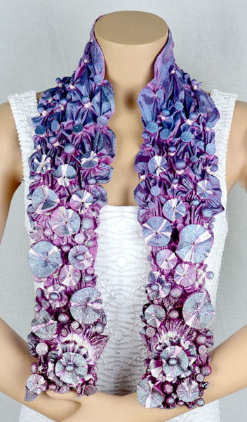 Galaxy Scarf in Purple, Pink and Blue