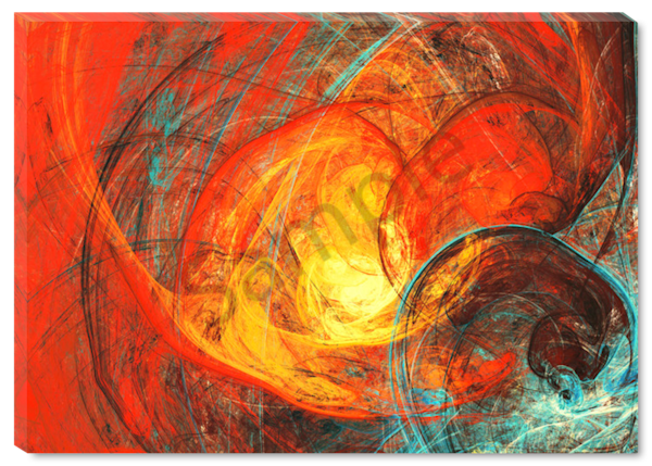 Red Swirl Original Painting
