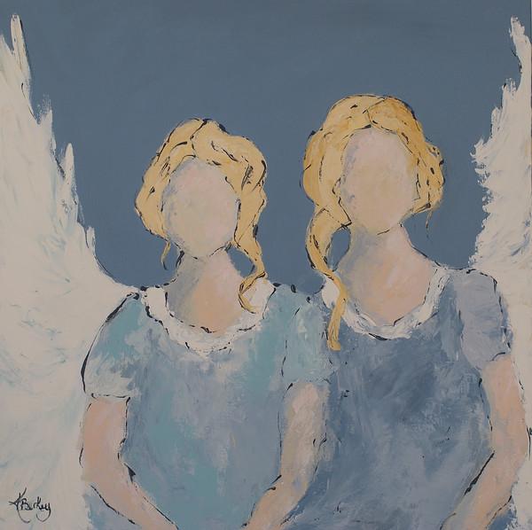 My Sister, My Angel Canvas Print by Kelly Berkey
