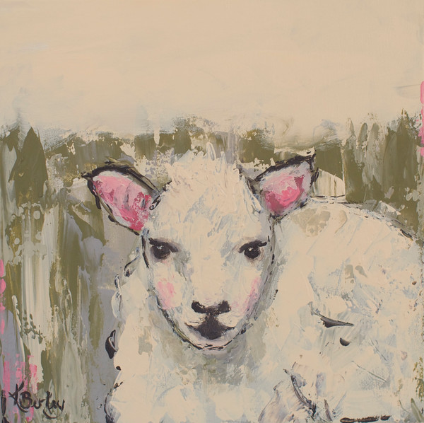 Little Lamb Painting by Kelly Berkey