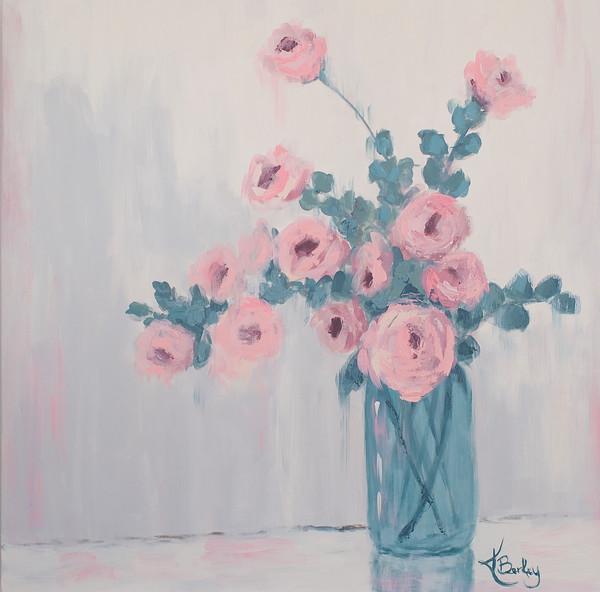 Vase of Pink Roses KBerkey