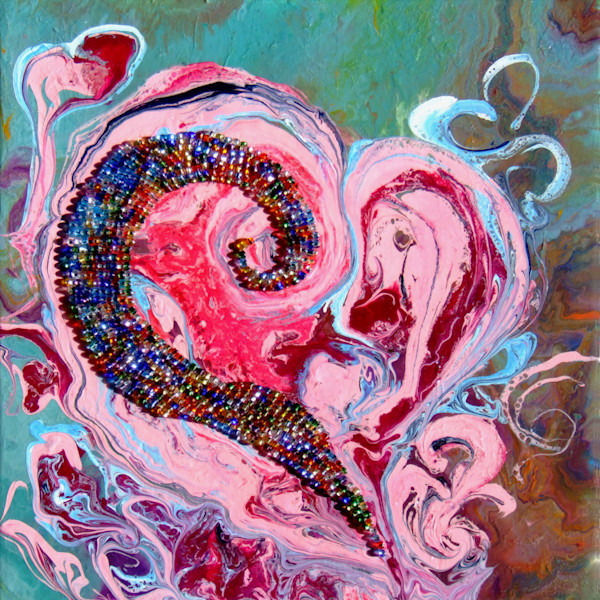 Beautiful Abstract Art of Romantic Valentine Gift Of Heart,