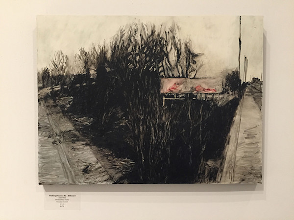 Walking Distance #1/Billboard/Capital View by Jeanie Lockeby Hursley at Matt McLeod Fine Art Gallery.