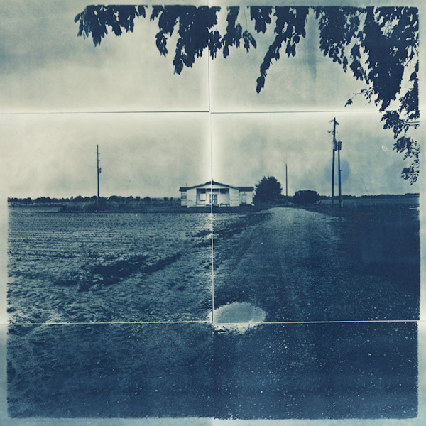 Over In Mississippi, cyanotype by Beverly Buys at Matt McLeod Fine Art Gallery.