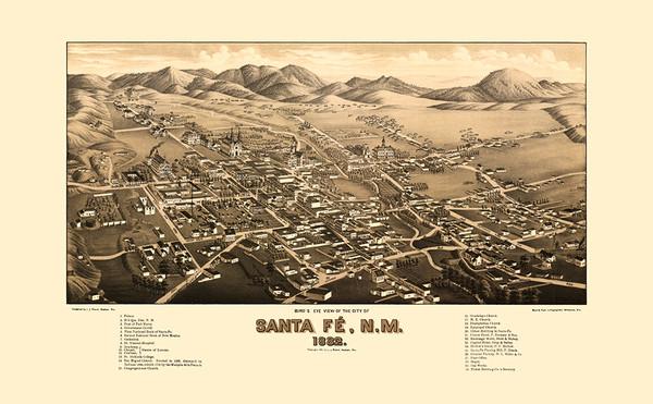 Santa Fe, New Mexico 1882