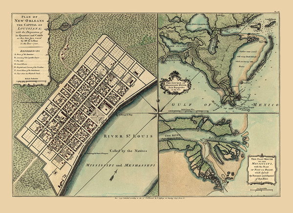 New Orleans City Plans 1720