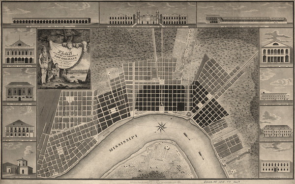 New Orleans City Plan 1815