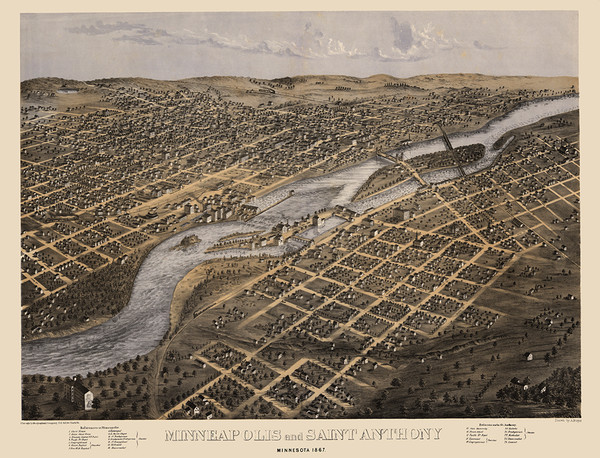 Minneapolis and Saint Anthony, Minnesota 1867