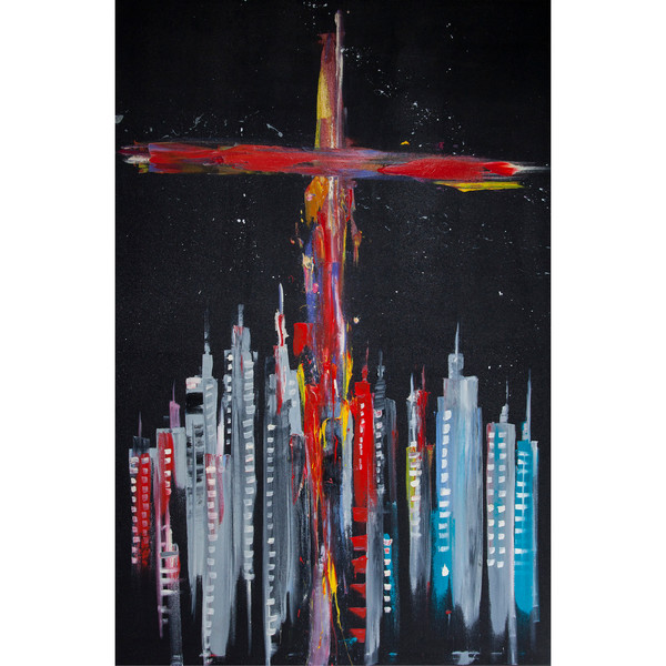 """The Cross Over A Grey City"" by Francigênio Castro 