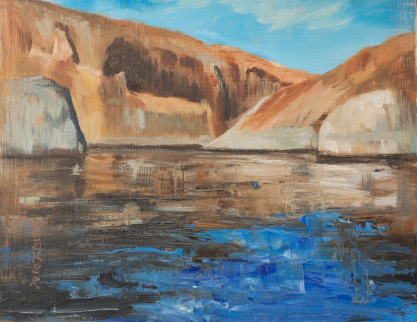 Lake Powell Alla Prima, Booker Tueller, red rock, art, paintings