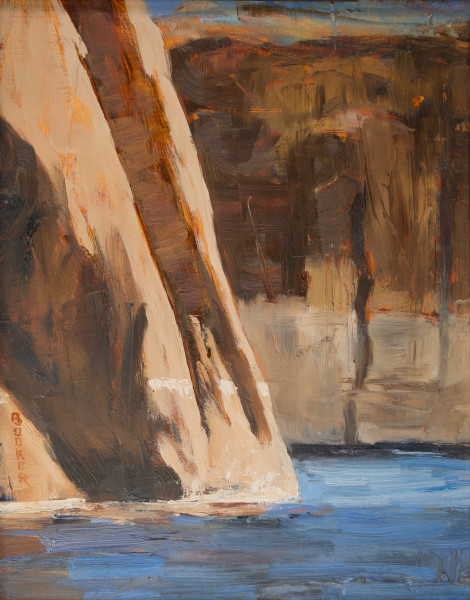 Lake Powell, Canyon Walls, Booker Tueller, red rock, art, paintings