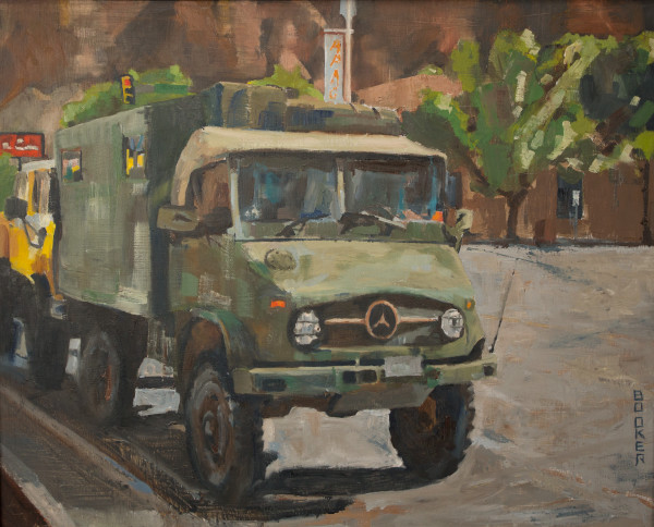 Unimog, Booker Tueller, red rock, art, paintings
