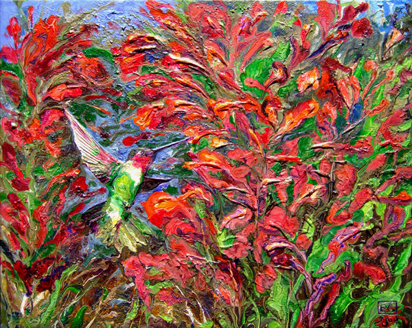 Abstract Hummingbird Art - The Return of Spring #3
