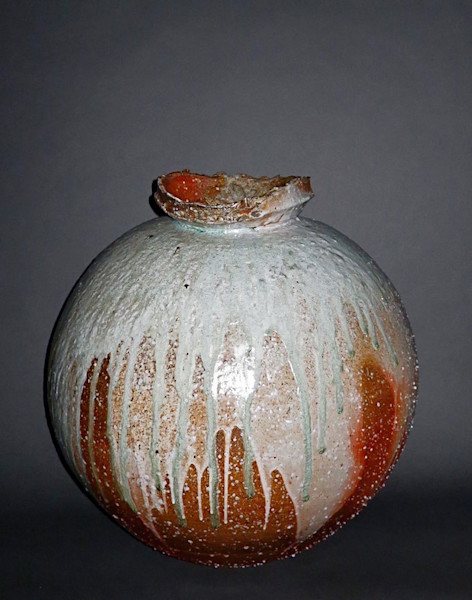 Buddha Cried, fired clay jar with glaze, by ceramics artist Joe Bruhin.