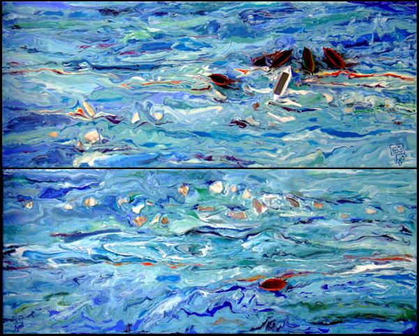 Abstract Blue Ocean Art Anchor Point/En Chuen Soo Fine Art