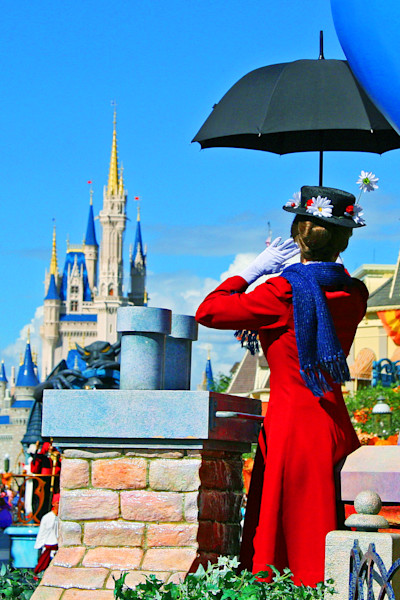 Mary Poppins Disney Parade Photograph for Sale as Fine Art