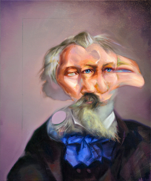Portrait of Johannes Brahms by Mathieu Laca. Prints available.