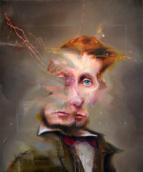 Portrait of Henry David Thoreau by Mathieu Laca. Prints of the painting available.