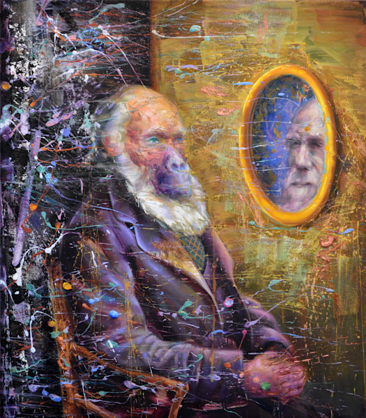 """Painting """"Darwin's Mirror"""" by Mathieu Laca. Prints available."""
