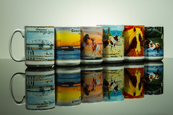 Fine Art Photographs of Chincoteague Mugs Reflections by Michael Pucciarelli
