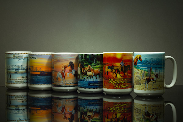 Fine Art Photograph of Chincoteague Mugs and Reflections by Michael Pucciarelli