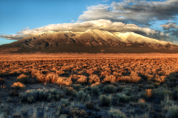 Mount Blanca at Sunset -  Colorado Fine Art Photography by Stephen Flournoy