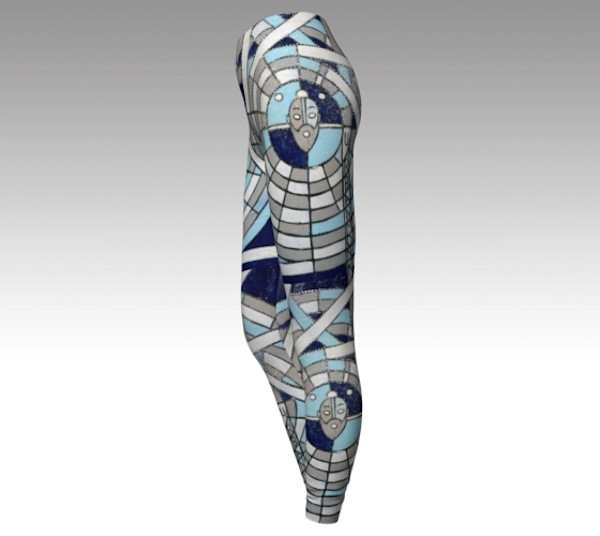 arctic monk - Fine Art Leggings based on the original paintings & art of The Urban Monk - Fine Art Prints & Fashion