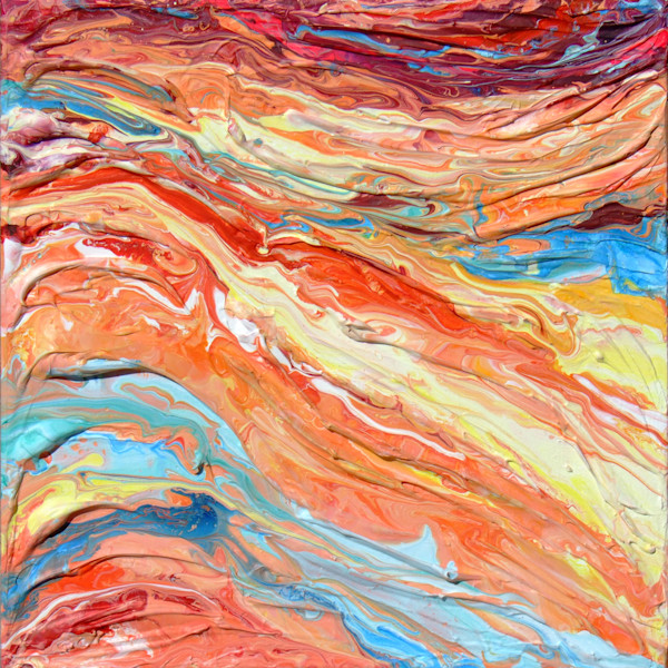 Original Abstract Rock Painting - Strata #2