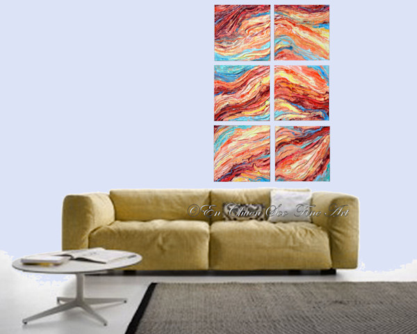 Original Abstract Rock Painting - Strata #1