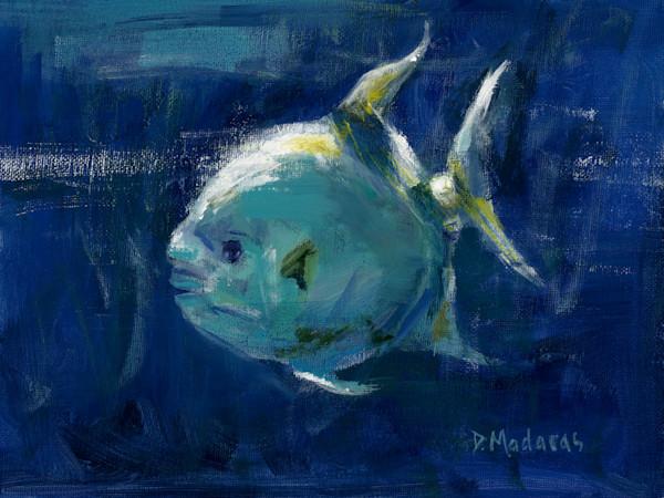 Ocean Fish Painting by Diana Madaras | Bull Nose