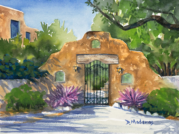 Desert Gate Painting by Diana Madaras | Gate in the Santa Ritas