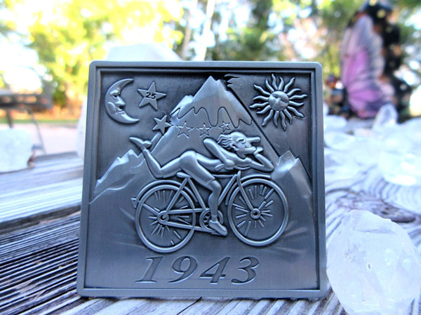 3D Albert Hofmann Bicycle Day LSD Blotter Art Hat Pin