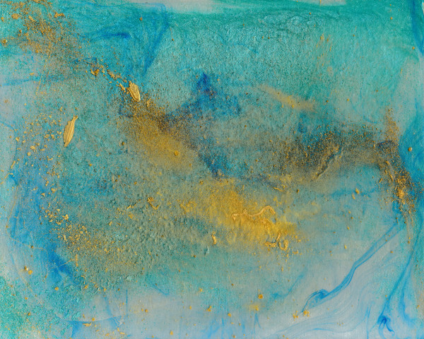 Turquoise Aqua Abstract Art and Paintings for Sale - Douglas Fischer Art - Vari Colori Series