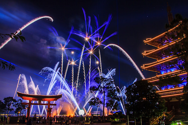 Epcot Illuminations Photograph for Sale as Fine Art