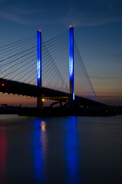 Indian River Bridge 2 Limited Edition Signed Fine Art Night Abstract Photograph by Melissa Fague