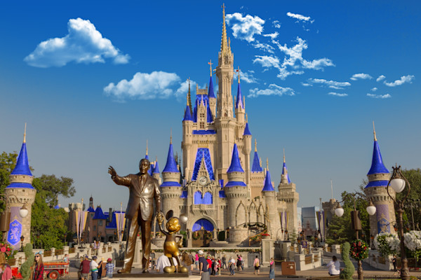 WDW Hub at Magic Kingdom Photograph for Sale as Fine Art