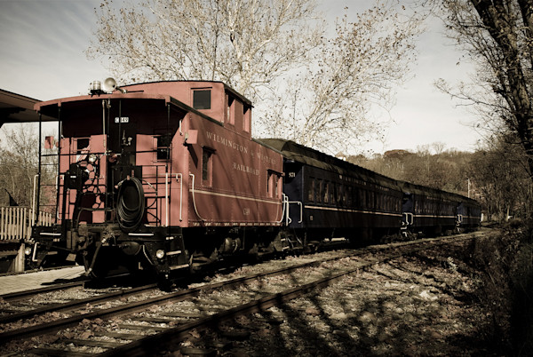 Aged Stream Train Limited Edition Signed Abstract Photograph by Melissa Fague